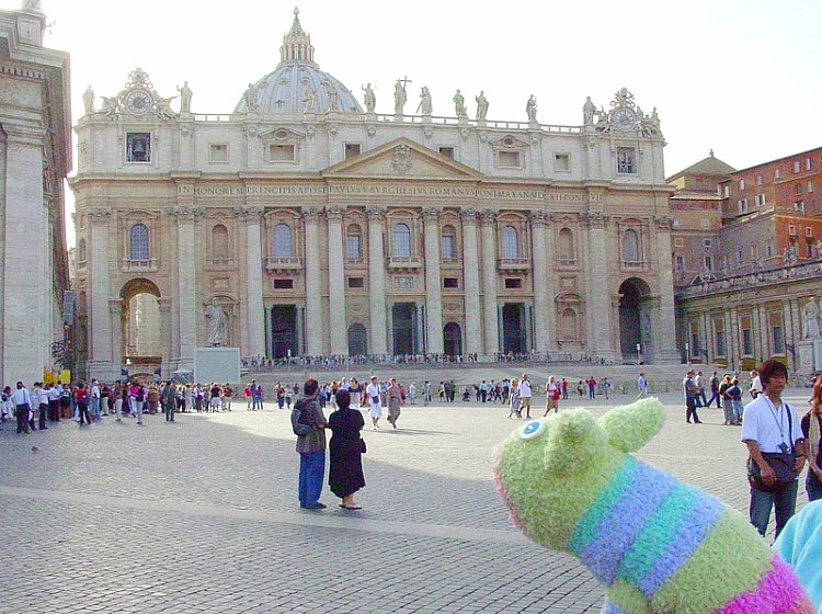 Mooch at the Vatican St Peter's