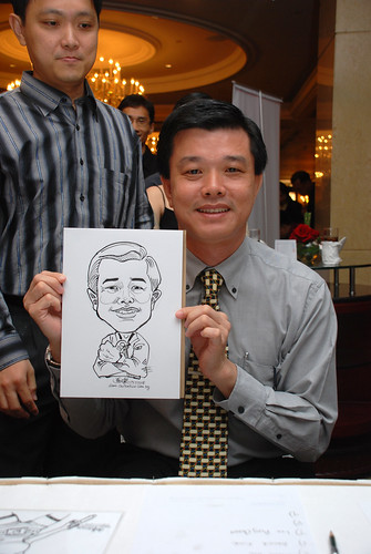 Caricature live sketching for Great Eastern Life D&D 2008 7