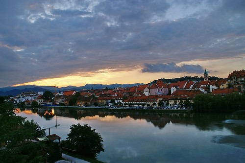 """Maribor: Sunset at Old Harbour (Lent) and Drava River • <a style=""""font-size:0.8em;"""" href=""""http://www.flickr.com/photos/26679841@N00/2915220761/"""" target=""""_blank"""">View on Flickr</a>"""