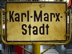Karl-Marx-Stadt Schild