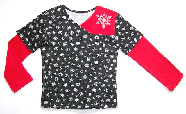 Bella's Snowflake Cross-Over Top
