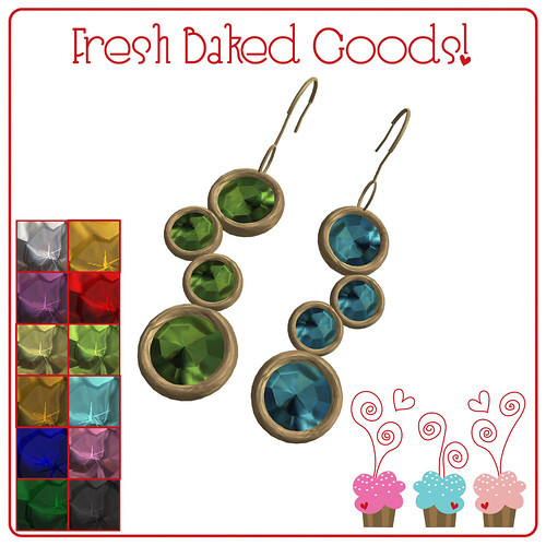 ~*Fresh Baked Goods*~ Jam Gems Thumprint Cookie Earrings