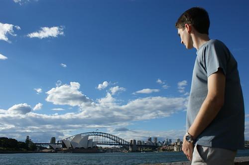 Sydney Opera House/Harbour Bridge/Person - by Michael Scott