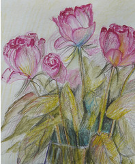Sketchbook Page (Fi@84) Tags: flowers flower colour art sketch drawing sharingart