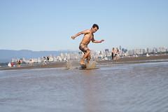 Andy Skim Boarding 3 (photos.by.ed) Tags: beach vancouver spanishbanks skimboarding