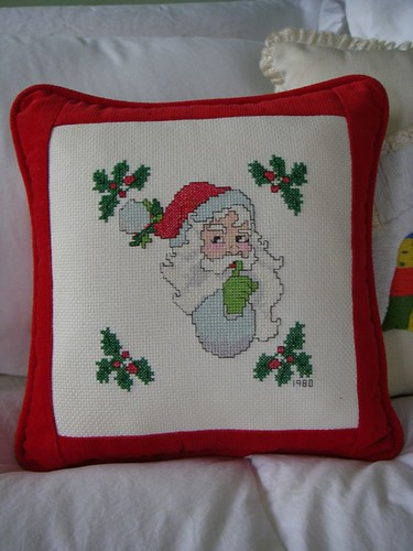 handmade Santa pillow from 1980