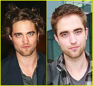 Robert Pattinson before hair cut & after hair cut by Team Stefan from Vampire Diaries (Meghan)