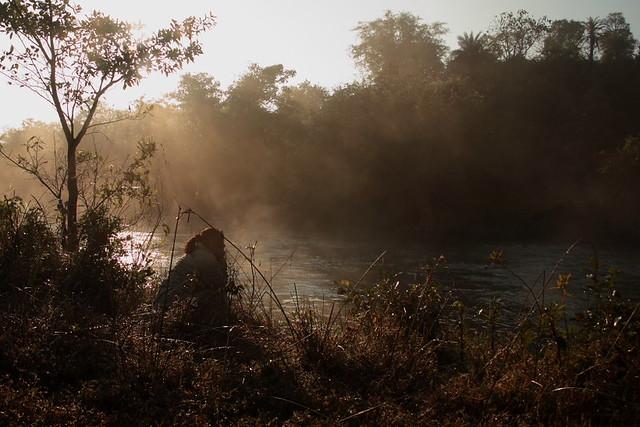 foggy river...