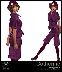 [MG fashion] Catherine (magenta)