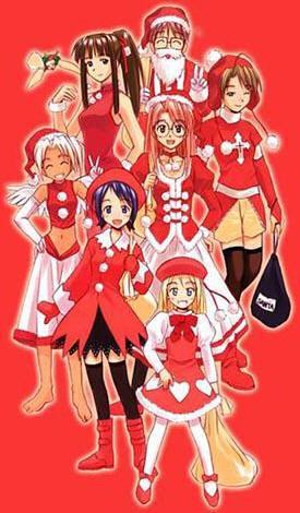 Новогодняя аниме открытка