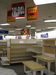 The last days of Mervyn's... (beastandbean) Tags: california retail shopping departmentstore burbank stores sales bargains hangers mervyns goingoutofbusiness outofbusiness 50off storeclosing 70off recession discountstore nothingheldback christmassales mervynsdepartmentstore christmas2008 emptystores mediacitycenter mallstores salesracks anchorstores salesfixtures