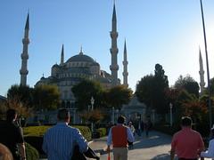 Istanbul Blue Mosque (kokorokoko) Tags: food church turkey shopping temple istanbul mosque dome obelisk bazaar bluemosque hagiasofia grandbazaar shishkebab bospuros
