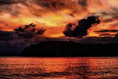 Puesta en Cala Jondal HDR (ibzsierra junior) Tags: sunset sun sol beach canon atardecer mar playa ibiza nubes nublado kdd puesta cala baleares jondal flickeros yourcountry 1000d