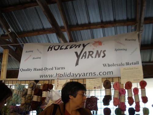 Holiday Yarns booth