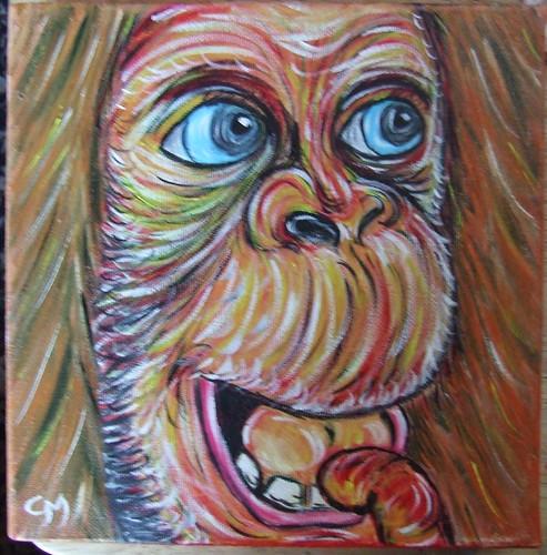Blue-eyed Orangutang