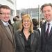 At the Ulster Hall reopening in March announcement are Dawson Stelfox, Jackie Owens and Sean Glynn.