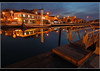 Alveira, Portugal (DeuxChasse) Tags: blue sunset portugal azul night lights nightshot nacht harbour porto noite avond nachtopname alveira deuxchasse