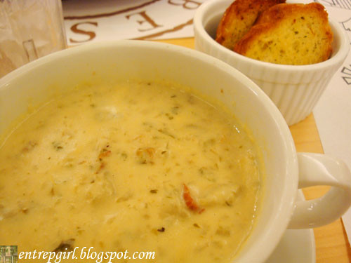 Racks clam chowder
