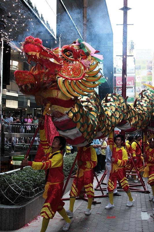 Dragon Dance @ Silom, Bangkok, Thailand