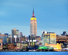 (Tony Shi.) Tags: nyc newyorkcity skyline lights esb empirestatebuilding chinesenewyearsday    cityscapeatnight   thnhphnewyork  tonyshi nikond700hdr  uniqueandcolorful