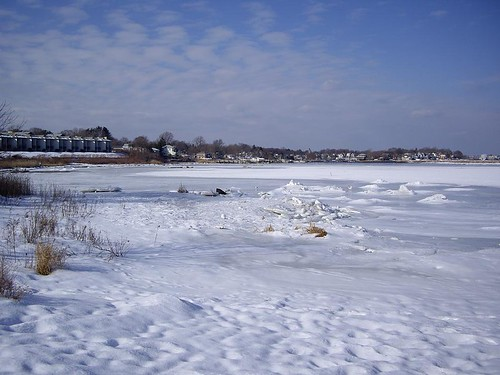 Gaspee Cove -- all frozen up!