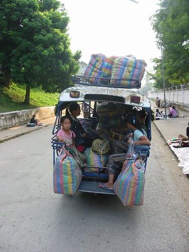 Lichtjes overladen tuktukske