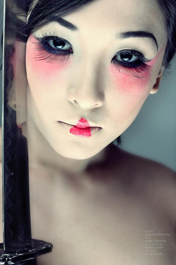 memoirs of geisha makeup. waste a good base makeup,