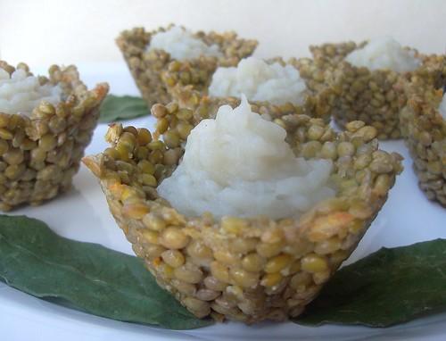 Cestini di lenticchie con purè di topinambour
