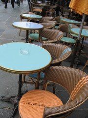 Caf chairs (dlge) Tags: paris france chairs tables sidewalks cafes
