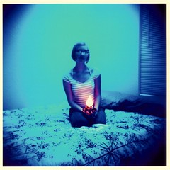 The way she held my heart... (Lomo-Cam) Tags: blue 120 austin mediumformat fire holga texas tungsten fuji64t holgacfn120 handfire