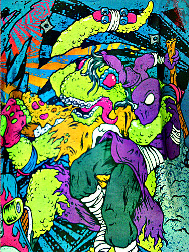 """Electric Zombie"" limited edition - Mondo Teal { Mondo Gecko }  Tee  // B  (( 2009 ))"
