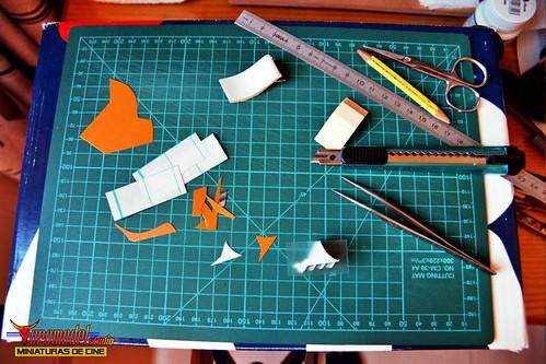 V-La miniserie - Diorama Hangar Nave Nodriza (11)