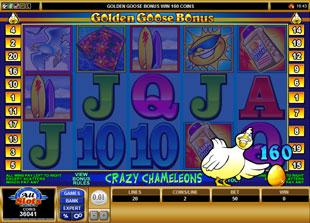 free Golden Goose Crazy Chameleons gamble bonus game