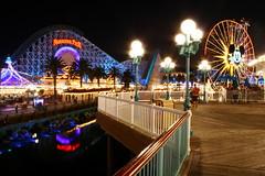 The Lights of the Pier (Legacy55) Tags: night dark lights pier glow ride disneyland disney ferriswheel rollercoaster multicolored themepark attraction californiascreamin disneyscaliforniaadventure paradisepier mickeysfunwheel
