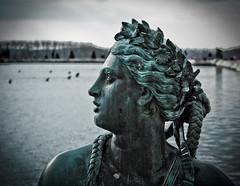 Desse (campra) Tags: sculpture france flower water statue bronze garden pond focus eau jardin efs1855mm palace wreath versailles canon350d baroque chateau parc braid lightroom parterre guirland