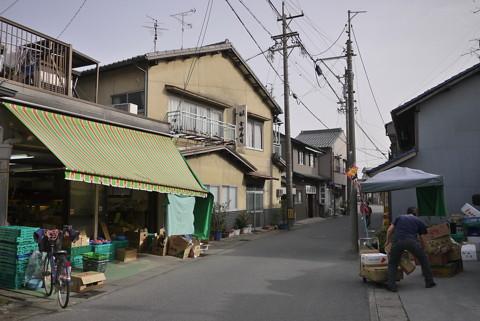 羽島市竹鼻町の家並み