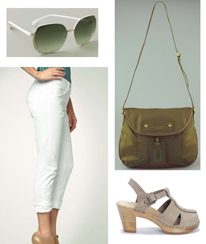 green white taupe