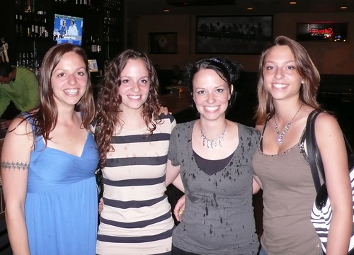 My sisters and I, out together for the night