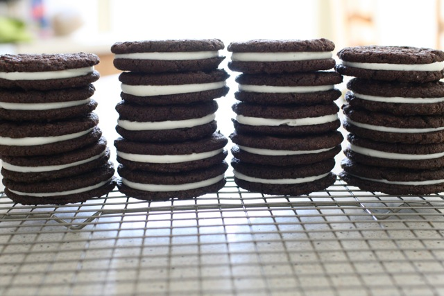 first tried a version of homemade oreos about a year ago and while ...