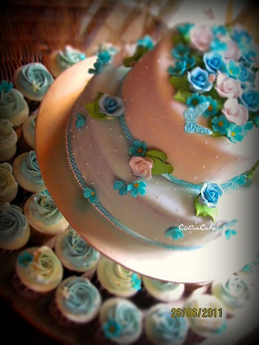 Blue/White Wedding Cakes