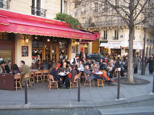 Did you know Parisian Cafe etiquette dictates that patrons pay a higher tier of prices to sit outside?  But its worth every penny.