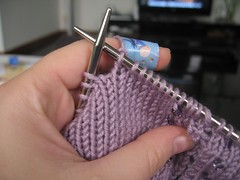 Lilac Mimosa - knitting wounded