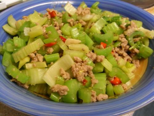 Celery ผัดหมู