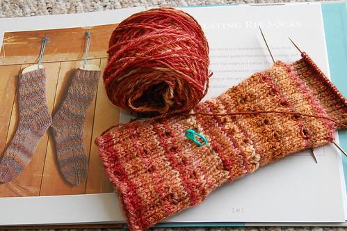 Handspun socks for MIL