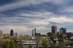 Sacramento Skyline 2008 0498 (casch52) Tags: california county sky skyline buildings river landscape photo downtown skies cityscape photograph american highrise riverboat sacramento riverwalk sacramentocounty sacramentoriver americanriver anawesomeshot explorer388 familygetty