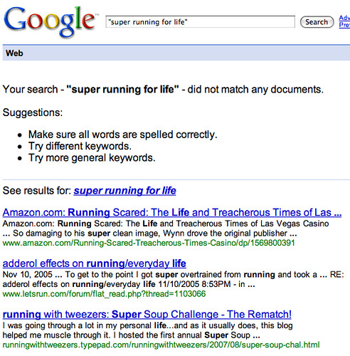 Google Quote Search Results