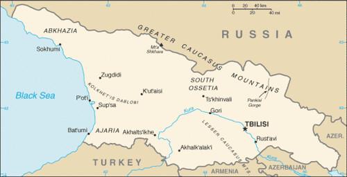 carte géorgie