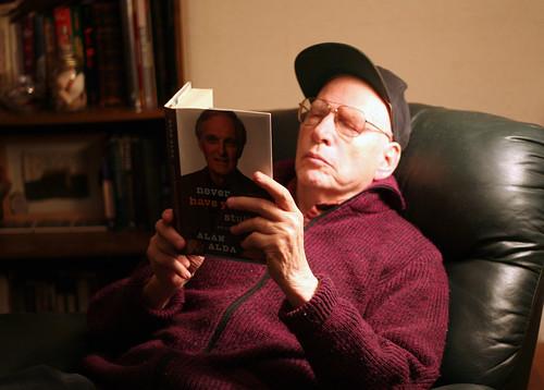 Dad, reading