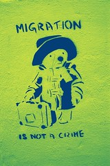 Migration is not a crime (Walt Jabsco) Tags: bristol stencil greenbank paddingtonbear fakexpro migrationisnotacrime