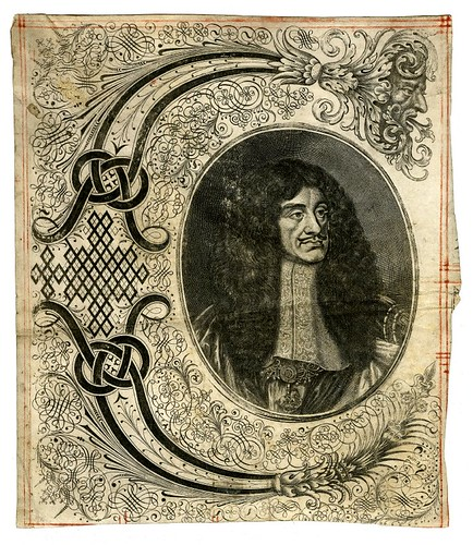 Bust portrait of Charles II in state robes (a)
